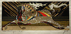 Japanese Sosaku Hanga Woodblock Print Tadashi Nakayama Running Horses