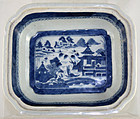 Chinese Qing Canton Export Porcelain Vegetable Dish