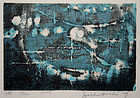 Ltd. Ed. Japanese Woodblock Print Joichi Hoshi Pool