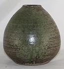 Japanese Mashiko Stoneware Vase with Potter�s Seal