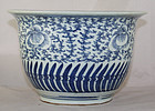 Chinese Qing Blue Sweet Pea Straits Jardiniere Planter Cache Pot