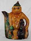Chinese Qing Guangxu Porcelain Susancai Monkey Ewer