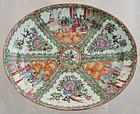 "16"" Chinese Qing Export Rose Medallion Famille Rose Platter"
