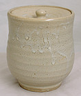 Japanese Stoneware Mizusashi Tea Ceremony Water Vessel