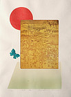 Oversized Japanese Limited Edition Etching Print Ouchi Makoto Journey