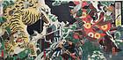 Japanese Edo Woodblock Print Composite Album 33 Triptychs Kuniyoshi