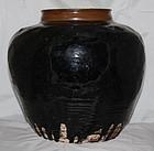 Massive Chinese Jin to Yuan Dynasty Henan Brown Black Glaze Jar