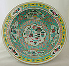Chinese Qing Famille Rose Straits Porcelain Basin Hundred Antiques