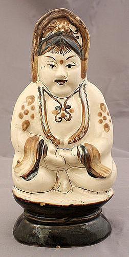 Chinese Qing Guangxu Cizhou Stoneware Buddhist Figure Guanyin