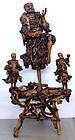 "Massive 52""H Chinese Qing Root Wood Figural Group Carving Li Tieguai"
