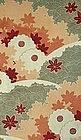 Japanese Kimono Obi Textile Water Autumn Flowers Motif