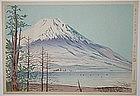 Japanese Woodblock Print Tokuriki Fuji Yamanaka Views