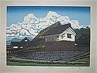 Oversized Japanese Woodblock Print Katsuyuki Nishijima