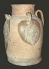 Chinese Tang Changsha Stoneware Ewer Relief Leaves