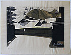 Large Japanese Woodblock Print Sekino Tokaido Kakegawa