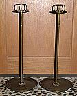 Japanese Bronze Shokudai Candle Stands Candlesticks