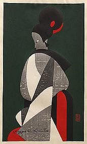 Japanese Woodblock Print - Kiyoshi Saito - Awaji Doll