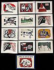 Japanese Woodblock Print - Kiyoshi Saito - 12 Card Set