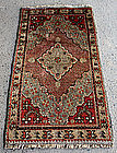 Chinese Wool Hand-knotted Minority Prayer Rug Xinjiang