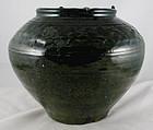 Large Chinese Han Green Lead Glazed Storage Burial Jar