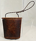 Chinese Qing Folk Art Burl Wood Tobacco Carrier Container Box