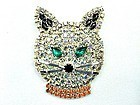 Sparkling  Rhinestone Kitty Pin - New American Made