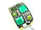 Wide Shades of Green Bangle Bracelet - New with Tags