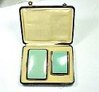 Art Deco Enamel Cigarette and Match Cases