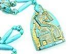Art Deco Egyptian Revival Czech Glass Flapper Necklace