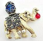 Napier Jeweled Circus Elephant Pin
