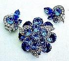 Electric Blue Eisenberg Demi-Parure - Stunning!