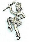 Old Sterling Silver Majorette Pin