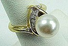 Lovely Ring with Large Faux Pearl