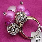 Fluorescent Pink Kate Spade Cluster Ring - Size 7