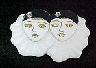 Whimsical Pierrot Twins - JMP Resin from France