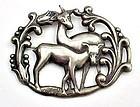Art Deco Sterling Deer Pin