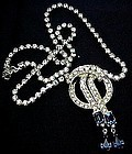 Vintage Art Deco Style Coro Blue and Clear RS Necklace