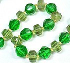 Two Colors of Green Beads - West Germany