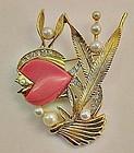 Whimsical 1960s Fish Pin