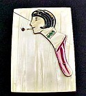 Rare Art Deco Celluloid Flapper Cigarette Case