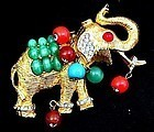 Sparkling DeNicola Jeweled Elephant Brooch