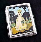 Vintage Gwenda Cigarette Case with Foil Picture
