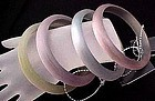 4 Pastel Colored Graziano Lucite Bangles