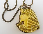 Miriam Haskell Large Egyptian Revival Necklace