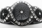 Art Deco Black Celluloid Sparkle Bracelet