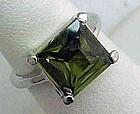 Nice Faux Peridot Ring - August Birthstone