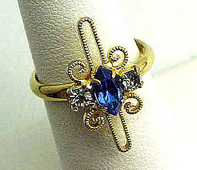 Pretty Blue Stone Cocktail Ring
