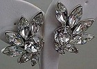 Pell - Large Clear Rhinestone Earrings