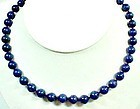 """18"""" Strand of Blue Agate Beads"""
