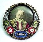 1930s Souvenir Pin Picturing Pope Pius XI
